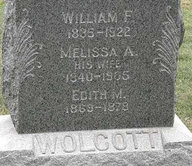 WOLCOTT, WILLIAM F. - Lorain County, Ohio | WILLIAM F. WOLCOTT - Ohio Gravestone Photos