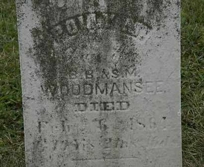 WOODMANSEE, S.M. - Lorain County, Ohio | S.M. WOODMANSEE - Ohio Gravestone Photos