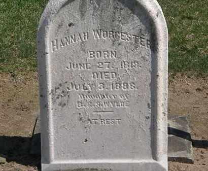 WORCESTER, HANNAH - Lorain County, Ohio | HANNAH WORCESTER - Ohio Gravestone Photos