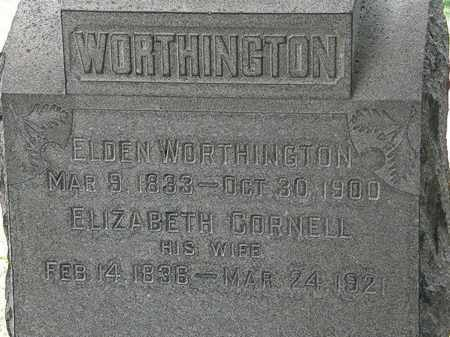 CORNELL WORTHINGTON, ELIZABETH - Lorain County, Ohio | ELIZABETH CORNELL WORTHINGTON - Ohio Gravestone Photos