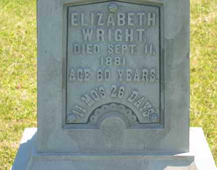 WRIGHT, ELIZABETH - Lorain County, Ohio | ELIZABETH WRIGHT - Ohio Gravestone Photos