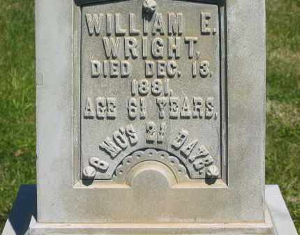 WRIGHT, WILLIAM E. - Lorain County, Ohio | WILLIAM E. WRIGHT - Ohio Gravestone Photos