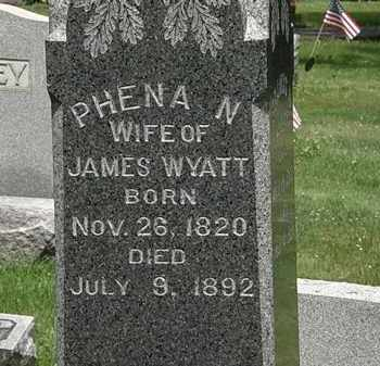 WYATT, PHENA N. - Lorain County, Ohio | PHENA N. WYATT - Ohio Gravestone Photos