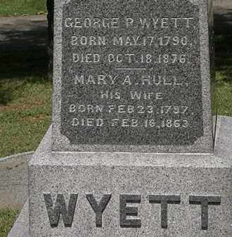 HULL WYETT, MARY A. - Lorain County, Ohio | MARY A. HULL WYETT - Ohio Gravestone Photos