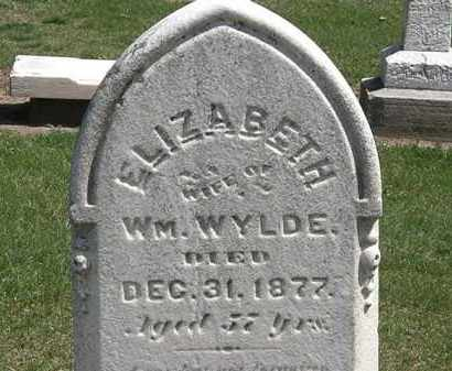 WYLDE, WM. - Lorain County, Ohio | WM. WYLDE - Ohio Gravestone Photos