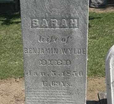 WYLDE, BENJAMIN - Lorain County, Ohio | BENJAMIN WYLDE - Ohio Gravestone Photos