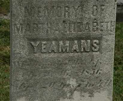 YEAMANS, MARTHA ELIZABETH - Lorain County, Ohio | MARTHA ELIZABETH YEAMANS - Ohio Gravestone Photos