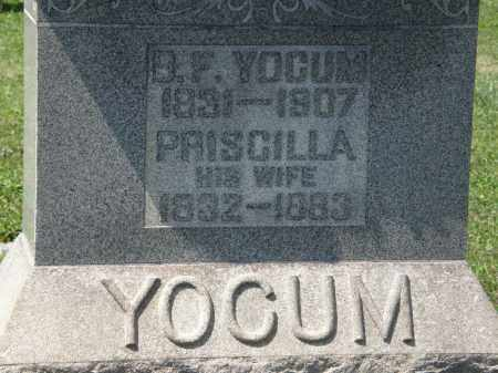 YOCUM, PRISCILLA - Lorain County, Ohio | PRISCILLA YOCUM - Ohio Gravestone Photos