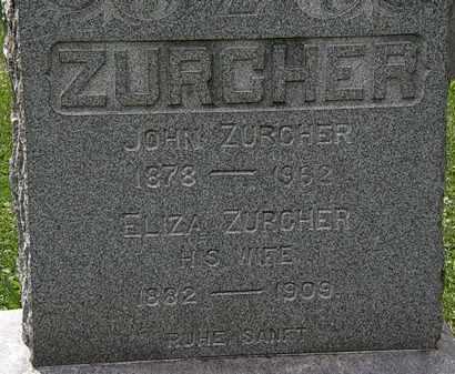 ZURCHER, JOHN - Lorain County, Ohio | JOHN ZURCHER - Ohio Gravestone Photos