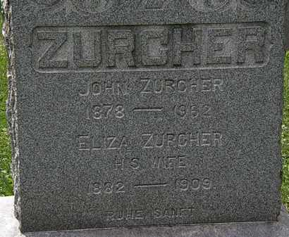 ZURCHER, ELIZA - Lorain County, Ohio | ELIZA ZURCHER - Ohio Gravestone Photos
