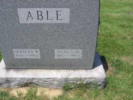 ABLE, AGNES - Lucas County, Ohio | AGNES ABLE - Ohio Gravestone Photos
