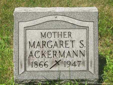 ACKERMANN, MARGARET S. - Lucas County, Ohio | MARGARET S. ACKERMANN - Ohio Gravestone Photos
