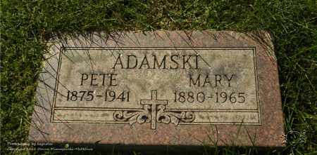 ADAMSKI, PETE - Lucas County, Ohio | PETE ADAMSKI - Ohio Gravestone Photos