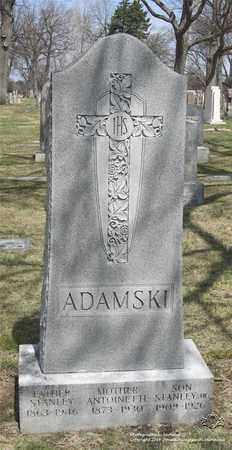 ADAMSKI, STANLEY - Lucas County, Ohio | STANLEY ADAMSKI - Ohio Gravestone Photos