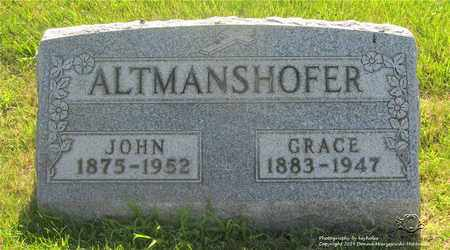 ALTMANSHOFER, JOHN - Lucas County, Ohio | JOHN ALTMANSHOFER - Ohio Gravestone Photos
