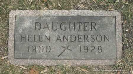 ANDERSON, HELEN - Lucas County, Ohio | HELEN ANDERSON - Ohio Gravestone Photos