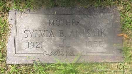 ANISTIK, SYLVIA B. - Lucas County, Ohio | SYLVIA B. ANISTIK - Ohio Gravestone Photos