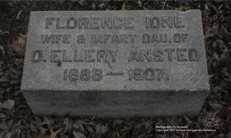 ANSTED, FLORENCE IONE - Lucas County, Ohio | FLORENCE IONE ANSTED - Ohio Gravestone Photos