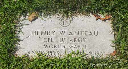 ANTEAU, HENRY W. - Lucas County, Ohio | HENRY W. ANTEAU - Ohio Gravestone Photos