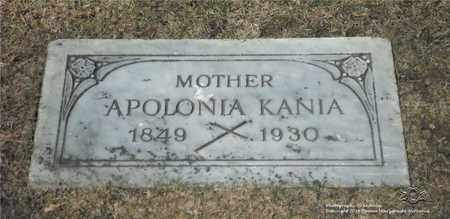 KANIA, APOLONIA - Lucas County, Ohio | APOLONIA KANIA - Ohio Gravestone Photos