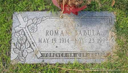 BABULA, ROMAN - Lucas County, Ohio | ROMAN BABULA - Ohio Gravestone Photos