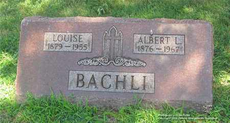 BACHLI, ALBERT L. - Lucas County, Ohio | ALBERT L. BACHLI - Ohio Gravestone Photos