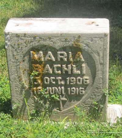 BACHLI, MARIA - Lucas County, Ohio | MARIA BACHLI - Ohio Gravestone Photos
