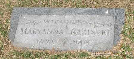 BAGINSKI, MARYANNA - Lucas County, Ohio | MARYANNA BAGINSKI - Ohio Gravestone Photos