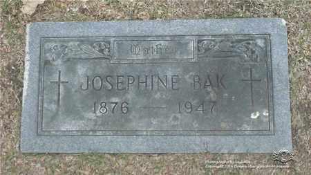 BAK, JOSEPHINE - Lucas County, Ohio | JOSEPHINE BAK - Ohio Gravestone Photos