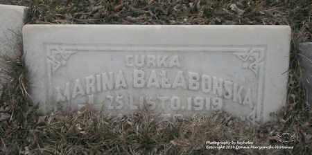 BALABONSKA, MARINA - Lucas County, Ohio | MARINA BALABONSKA - Ohio Gravestone Photos