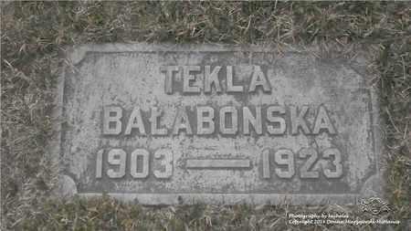 BORKOWSKI BALABONSKA, TEKLA - Lucas County, Ohio | TEKLA BORKOWSKI BALABONSKA - Ohio Gravestone Photos