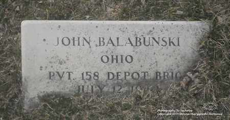 BALABONSKI, JOHN - Lucas County, Ohio | JOHN BALABONSKI - Ohio Gravestone Photos
