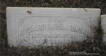 BALABONSKI, RYSARD - Lucas County, Ohio | RYSARD BALABONSKI - Ohio Gravestone Photos