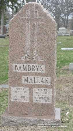 MALLAK, CHARLOTTE - Lucas County, Ohio | CHARLOTTE MALLAK - Ohio Gravestone Photos