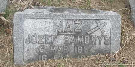 BAMBRYS, JOZEF - Lucas County, Ohio | JOZEF BAMBRYS - Ohio Gravestone Photos