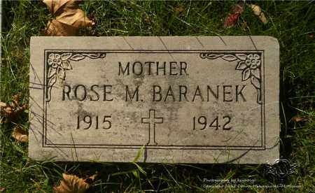 BARANEK, ROSE M. - Lucas County, Ohio | ROSE M. BARANEK - Ohio Gravestone Photos