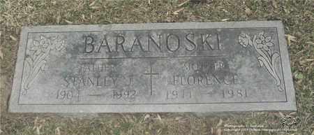 BARANOSKI, FLORENCE - Lucas County, Ohio | FLORENCE BARANOSKI - Ohio Gravestone Photos
