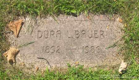 BAUER, DORA L. - Lucas County, Ohio | DORA L. BAUER - Ohio Gravestone Photos