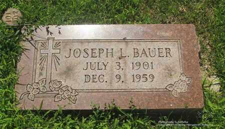 BAUER, JOSEPH L. - Lucas County, Ohio | JOSEPH L. BAUER - Ohio Gravestone Photos