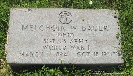 BAUER, MELCHOIR W. - Lucas County, Ohio | MELCHOIR W. BAUER - Ohio Gravestone Photos