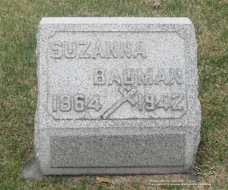 BAUMAN, SUZANNA - Lucas County, Ohio | SUZANNA BAUMAN - Ohio Gravestone Photos