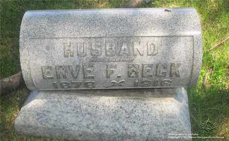BECK, ERVE F. - Lucas County, Ohio | ERVE F. BECK - Ohio Gravestone Photos