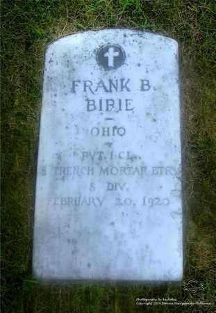 BIRIE, FRANK B. - Lucas County, Ohio | FRANK B. BIRIE - Ohio Gravestone Photos