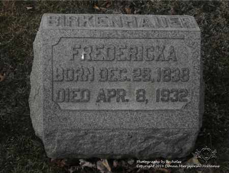 BIRKENHAUER, FREDERICKA - Lucas County, Ohio | FREDERICKA BIRKENHAUER - Ohio Gravestone Photos