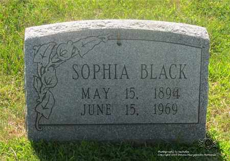 BLACK, SOPHIA - Lucas County, Ohio | SOPHIA BLACK - Ohio Gravestone Photos