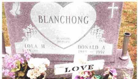 BLANCHONG, DONALD A. - Lucas County, Ohio | DONALD A. BLANCHONG - Ohio Gravestone Photos