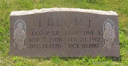 BLOM, ERNESTINE A. - Lucas County, Ohio | ERNESTINE A. BLOM - Ohio Gravestone Photos