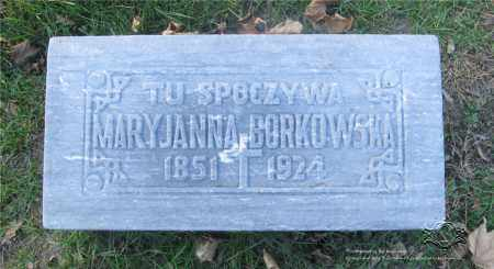 BORKOWSKI, MARYJANNA - Lucas County, Ohio | MARYJANNA BORKOWSKI - Ohio Gravestone Photos