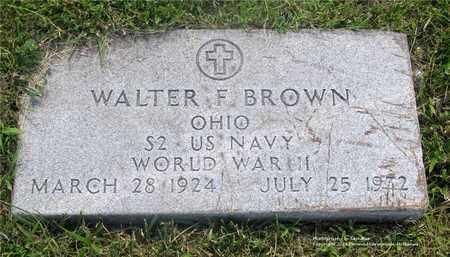 BROWN, WALTER F. - Lucas County, Ohio | WALTER F. BROWN - Ohio Gravestone Photos