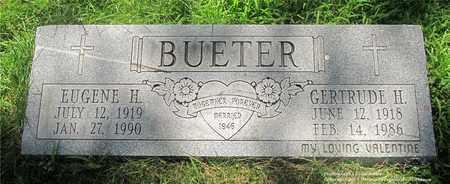 BUETER, EUGENE H. - Lucas County, Ohio | EUGENE H. BUETER - Ohio Gravestone Photos